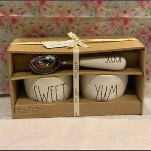 🆕 Rae Dunn Ice Cream Scoop & Bowl Set